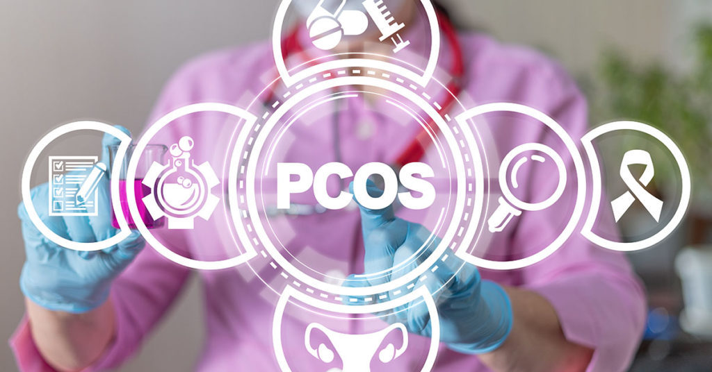 PCOS Polycystic Syndrome Ovary Illness Health Care Concept; blog: How PCOS and Infertility are Connected